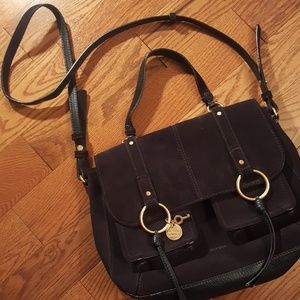 See By Chloe Bags - SEE BY CHLOE navy suede  bag.